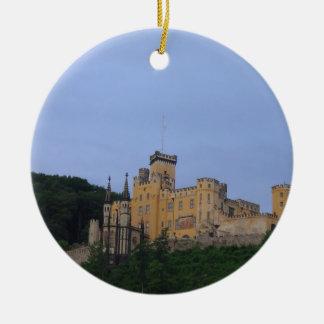 Castillo Stolzenfels Adorno Navideño Redondo De Cerámica