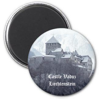 Castillo Vaduz Liechtenstein Imán Redondo 5 Cm