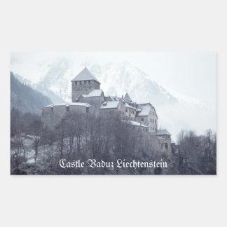 Castillo Vaduz Liechtenstein Pegatina Rectangular