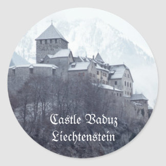 Castillo Vaduz Liechtenstein Pegatina Redonda
