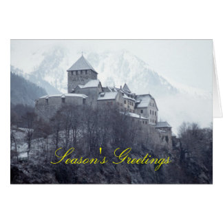 Castillo Vaduz Liechtenstein Tarjeta De Felicitación