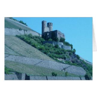 Castillo viejo tarjeta de felicitación