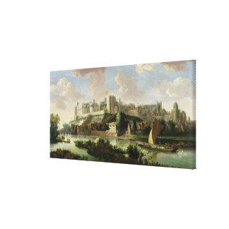 Castillo visto del Thames, c.1700 (aceite o de Win Impresión En Lienzo Estirada