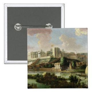 Castillo visto del Thames, c.1700 (aceite o de Win Pin Cuadrada 5 Cm