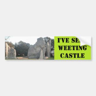 Castillo Weeting Norfolk Reino Unido de Weeting de Pegatina De Parachoque