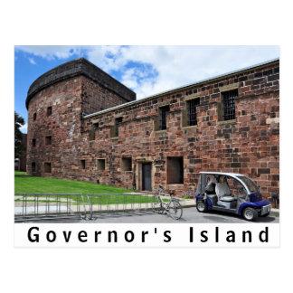Castillo Williams de la isla del gobernador Tarjeta Postal