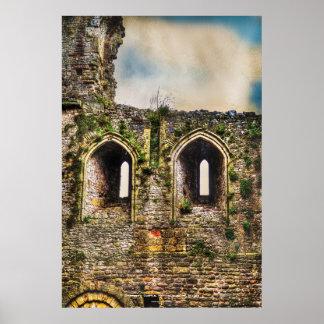 Castillo Windows, Monmouthshire, País de Gales de Póster