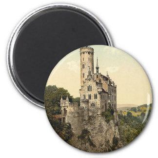 Castillo Wurtemburg, Alemania de Lichtenstein Imán Redondo 5 Cm