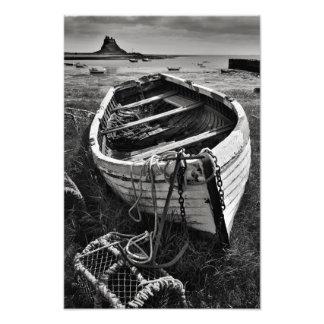 Castillo y barco viejo - impresión santa de Lindis Fotografías