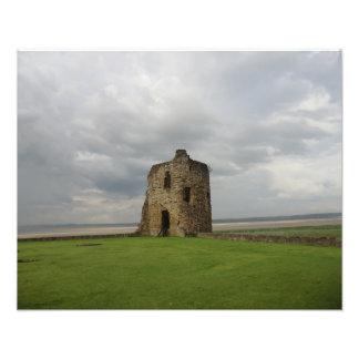 Castillo y el río Dee del pedernal Fotografías