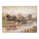 Castillo y el río Támesis 1910 de Windsor Postal