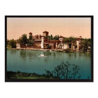 Castillo y pueblo con mercado medieval, vin de Tur Postal