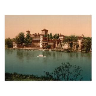 Castillo y pueblo con mercado medievales, Turín, I Tarjeta Postal