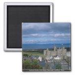 Castillo y pueblo, Gwynedd, Wale septentrional de  Imanes Para Frigoríficos