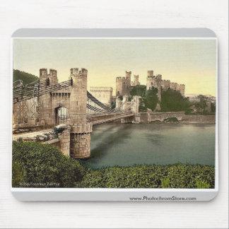 Castillo y puente colgante, Conway (es decir Conwy Tapete De Ratón