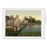 Castillo y puente colgante, Conway (es decir Conwy Tarjeta