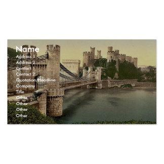 Castillo y puente colgante, Conway (es decir Conwy Tarjeta Personal