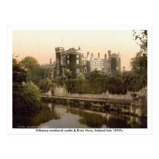 Castillo y río Nore siglo XIX de Kilkenny