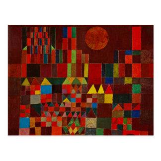 Castillo y Sun de Paul Klee Tarjetas Postales