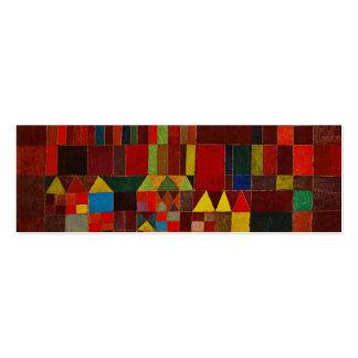 Castillo y Sun de Paul Klee Tarjetas De Visita Mini