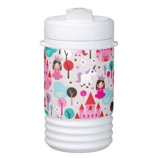 castillo y unicornio de la princesa de los niños enfriador de bebida igloo