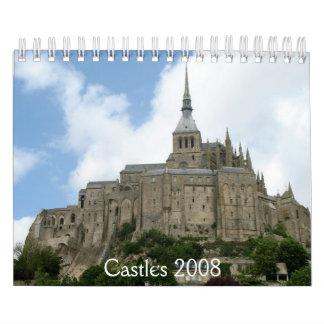 Castillos 2008 calendario de pared