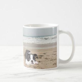 Castillos de arena de la taza de Boston Terrier
