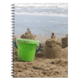 castillos de arena en la playa notebook