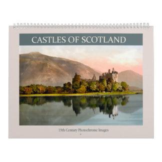 Castillos de Escocia Calendario De Pared