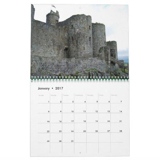 Castillos de Irlanda y de País de Gales Calendarios De Pared