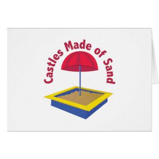 Castillos de la arena tarjeta de felicitación