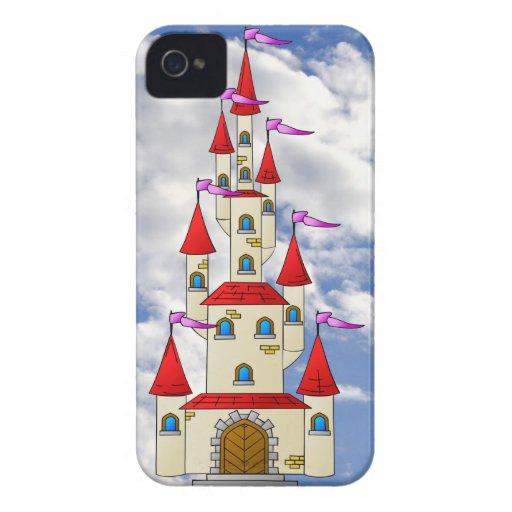 Castillos del edificio en el cielo iPhone 4 Case-Mate coberturas