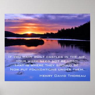 Castillos en el aire - Thoreau Póster