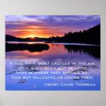 Castillos en el aire - Thoreau Posters