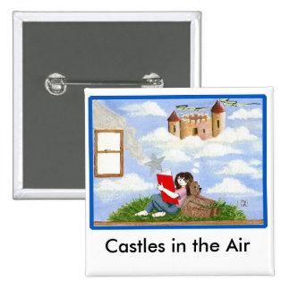 Castillos en los pernos del aire pin cuadrado