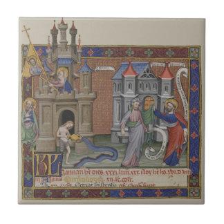 Castillos medievales azulejo cuadrado pequeño