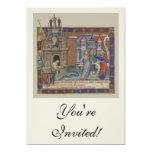 Castillos medievales invitación 12,7 x 17,8 cm