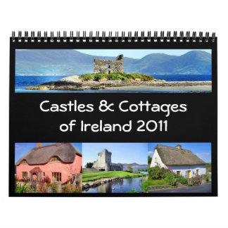 Castillos y cabañas del calendario de Irlanda 2011