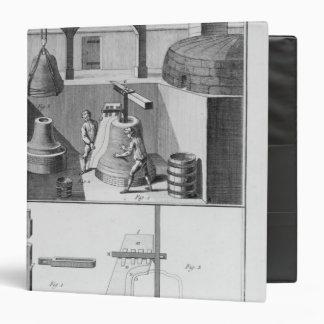 Casting bells, illustration from 'Encyclopedia' Binder