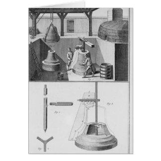 Casting bells, illustration from 'Encyclopedia' Card