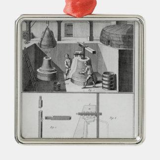 Casting bells, illustration from 'Encyclopedia' Metal Ornament