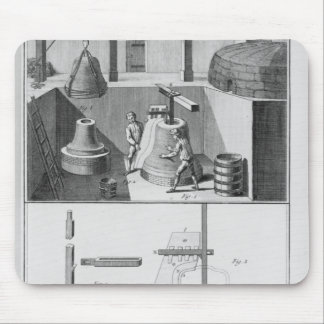 Casting bells, illustration from 'Encyclopedia' Mouse Pad