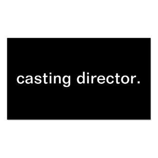 Casting Director Double-Sided Standard Business Cards (Pack Of 100)