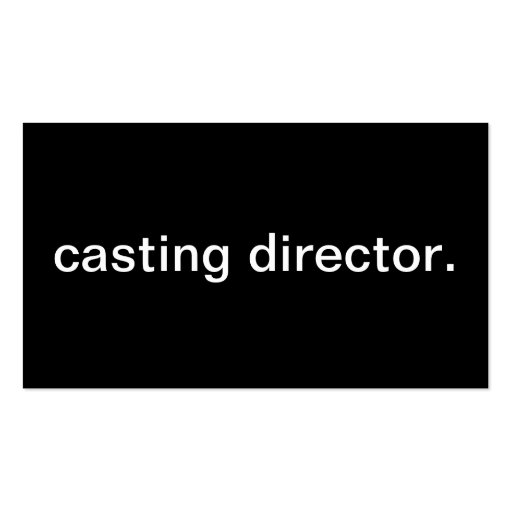 Casting Director Business Card Template