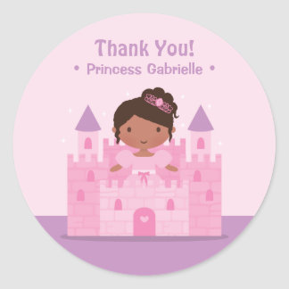 Castle African American Princess Thank You Sticker