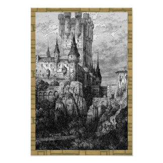 Castle and Brick Border Poster