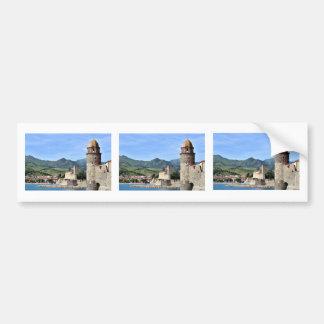 Castle and church of Collioure in France Bumper Sticker