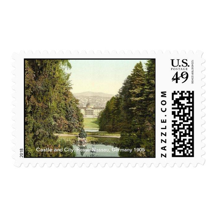 Castle and City, Hesse-Nassau, Germany 1905 Postage