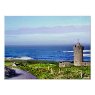 Castle and Cottage Print