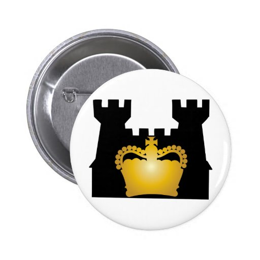 Castle and Crown - Royalty of Kings and Queens Pin
